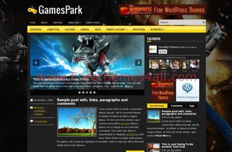 themes download all dark black games wordpress theme free download