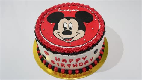 cool birthday cake mickey mouse how to make cake