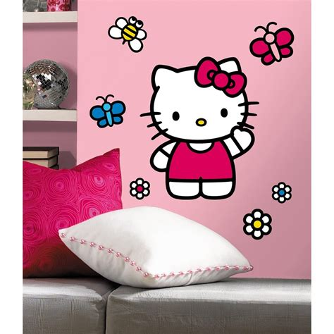 new giant world of hello kitty wall decals girls bedroom