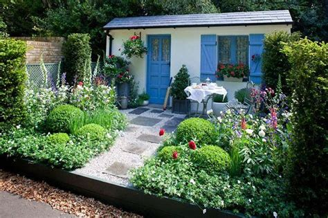 this is a cottage garden with a modern twist thanks to