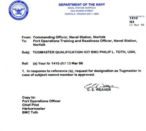 Certificate Letter Of Qualification Virginia Togetherweserved Cpo Tugboat Phil Toth