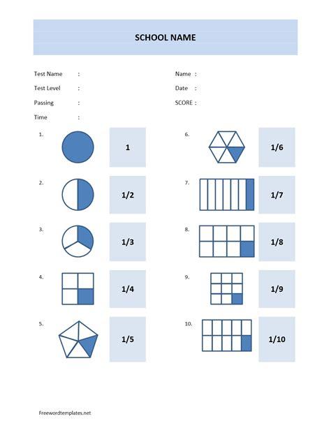 Math Templates math quiz sheet