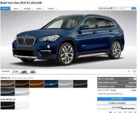 2016 bmw x1 colors