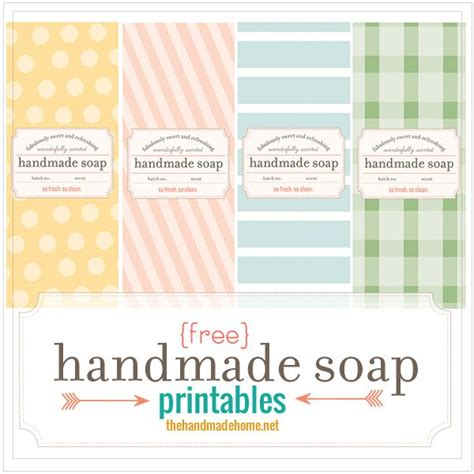 Handmade Soap Label - make your own soap our fave recipes free printables