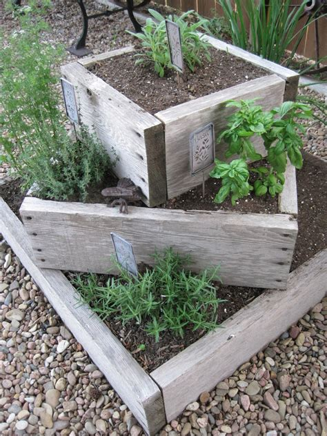 herb garden planters on crooked creek thyme for herbs