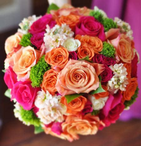 Bright Wedding Flower Picture by Wedding Bouquet With Bright Flowers Jpg
