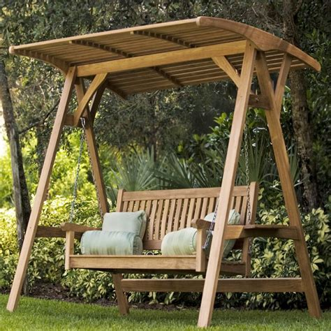 garden swing bench wood marvelous garden swing bench 1 wooden swings with canopy