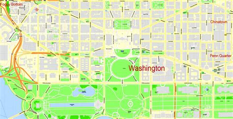 washington dc road map pdf washington dc printable map us exact vector map g