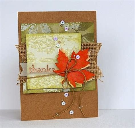 Handmade Thanksgiving Cards - quot thanks quot handmade thanksgiving cards with pretty autumn