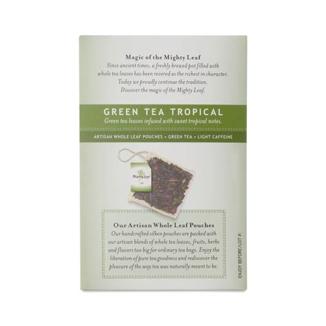 Mighty Leaf Detox Tea Ingredients by Mighty Leaf Green Tea Tropical Tea Thrive Market