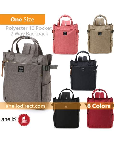 Pre Order Anello 10 Pockets 2 Way Backpack anello polyester 10 pocket 2 way tote backpack rucksack at