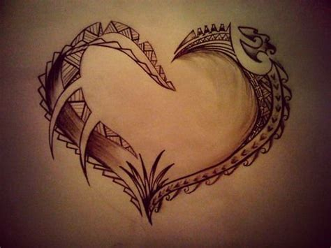 polynesian tattoo history channel unique heart drawing tats art pinterest filipino