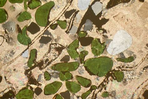 glauconite thin section calc silicate rock mechanic falls maine usa thin section