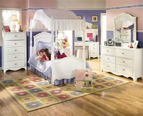 bedroom suites for girls canopy bedroom suite ashley exquisite twin girls white ebay