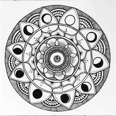 moon phases mandala by mari h 228 ri on the way guest