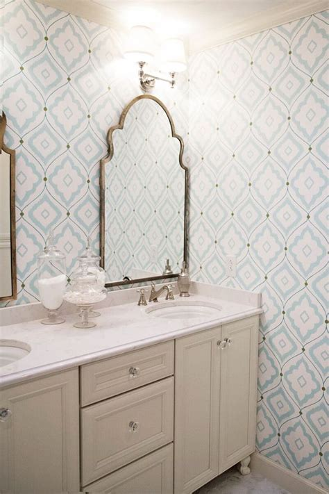 wallpaper patterns for bathroom 30 gorgeous wallpapered bathrooms