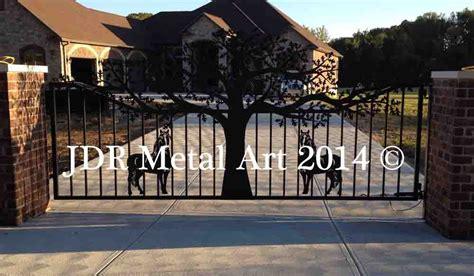 tree driveway gates designs plasma cut  jdr metal art