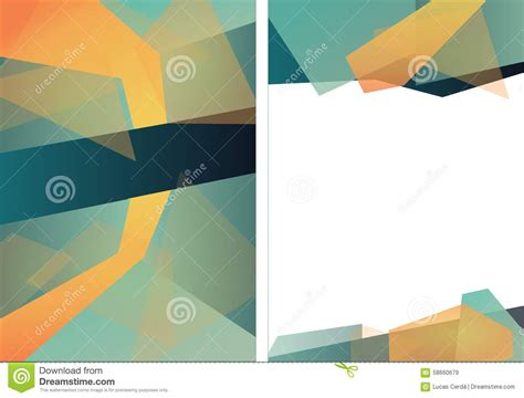 triangle layout vector abstract triangle brochure flyer design layout template