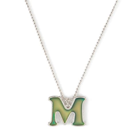 Initial M mood initial m pendant necklace s us