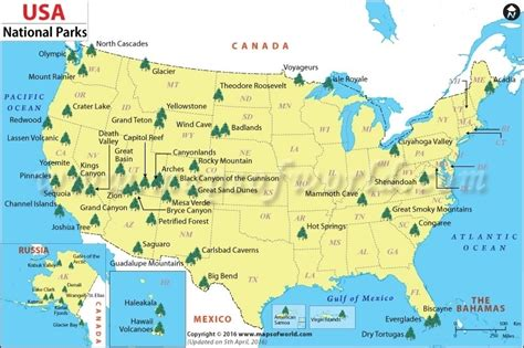 us national parks map printable list of national parks gameshacksfree