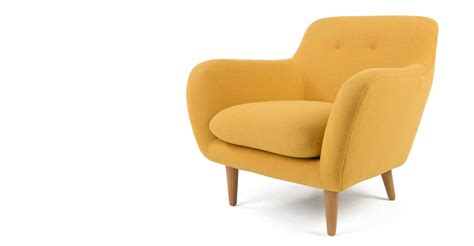 armchair yolk yellow wood dylan made com