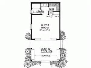 1 bedroom guest house plans eplans country house plan rustic cabin or special guest