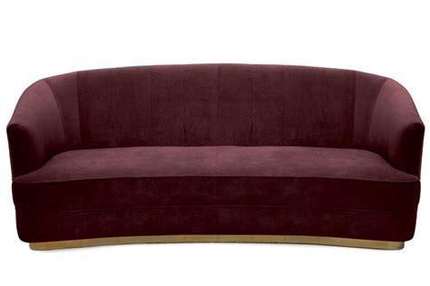 cotton velvet sofa saga sofa in cotton velvet fabric brass base for sale at
