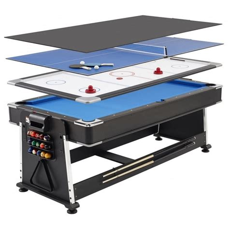 air hockey table over pool 7ft revolver 3 in 1 pool air hockey table tennis game