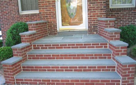 brick front porch steps curved   build   pavers
