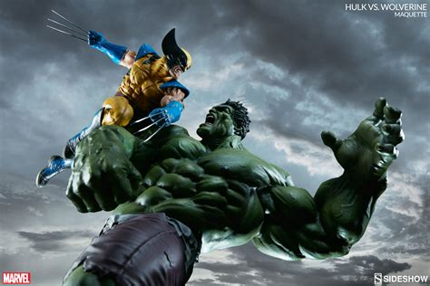 imagenes de hulk vs wolverine en real hulk vs wolverine a meeting of the mighty sideshow