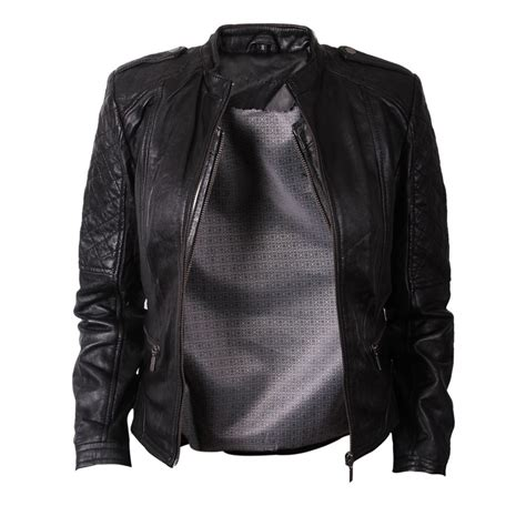 Womens Leather Bike Jackets Coat Nj