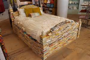 Cardboard Bed Frame Books Bedframe Recyclart