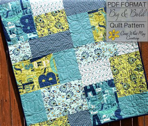 Quarter Quilt Patterns Baby Quilt Pattern Quarter Quilt Pattern Big Bold