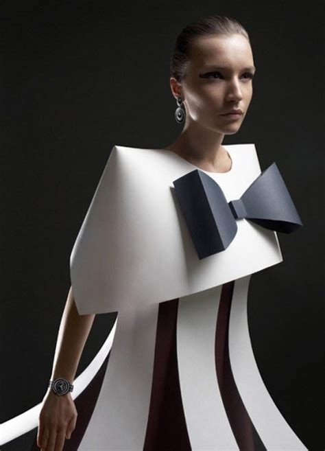 design clothes paper futuristic style paper fashion dresses tutt art