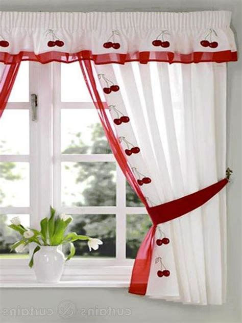 red and white curtains for kitchen red and white toile kitchen curtains