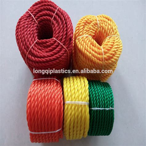 Pe Twine 380d pe twine 2mm twisted rope plastic cord for outdoor