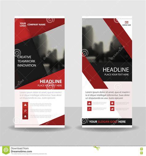 layout x banner red black roll up business brochure flyer banner design