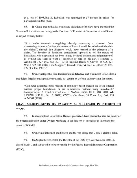 Response Letter To Notice Of Default Foreclosure Response To Jp Foreclosure