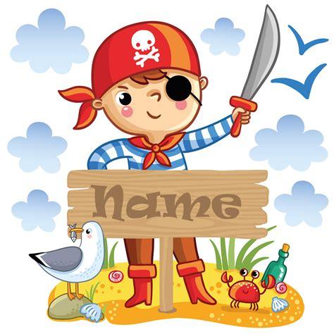 Wandtattoo Kinderzimmer Mit Wunschnamen by Kinderzimmer Wandtattoo Pirat Mit Wunschname