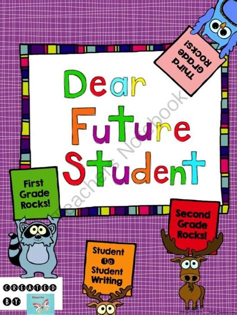 Dear Future Student First Second Third Grader Student To