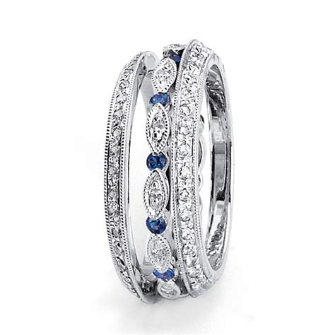 womens sapphire wedding bands blue sapphire and s wedding band 94