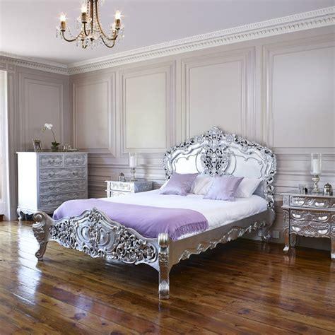 Tempat Tidur Kayu Ukir tempat tidur ukir warna silver jual tempat tidur