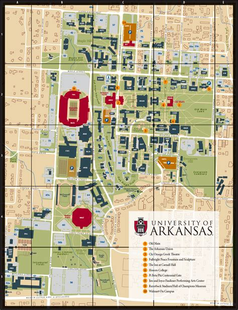 u of a housing cus map university of arkansas online visitor s guide