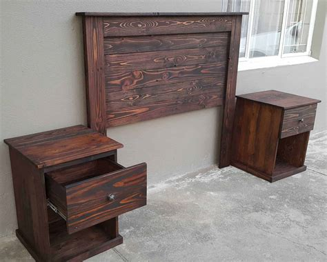 headboard with built in bedside tables pallet headboard with bedside tables 1001 pallets