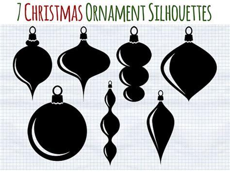 christmas ornament silhouettes www pixshark com images