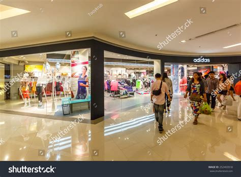 bangkokjan 2 adidas shop central world stock photo