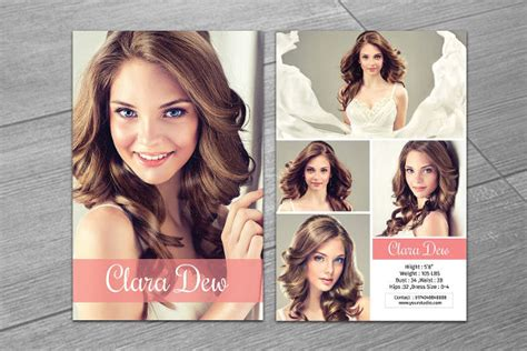 free model comp card template 9 comp card templates free sle exle format