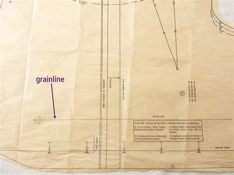 cutting a pattern grainline how to lay out pattern pieces for sewing success katrina