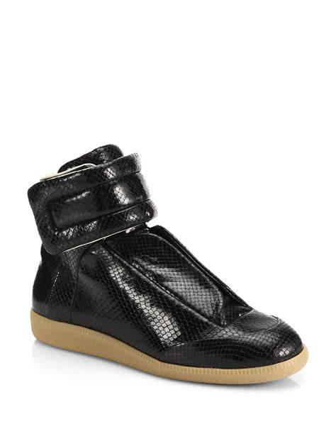 margiela future sneakers maison margiela snake embossed leather future high top
