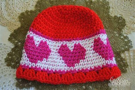 heart hat pattern valentine s day crochet heart pattern